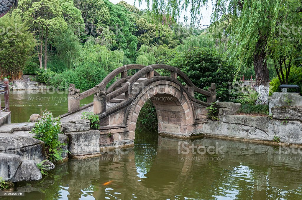 Chinese Garden Stone Arch Bridge Stock Photo More Pictures Of Arch