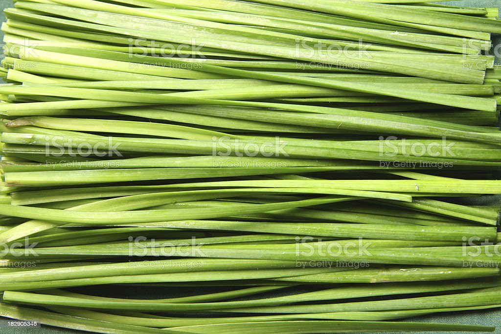Chinese garlic chives background royalty-free stock photo