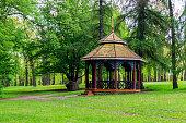 Chinese gazebo in Sofiyivka park in Uman, Ukraine