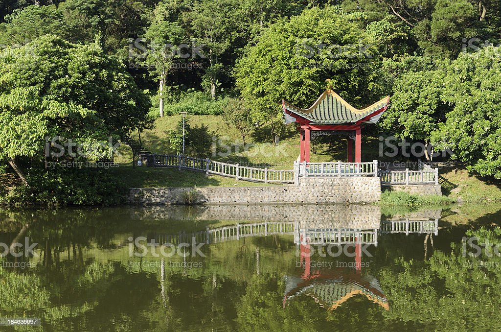 Chinese gazebo royalty-free stock photo