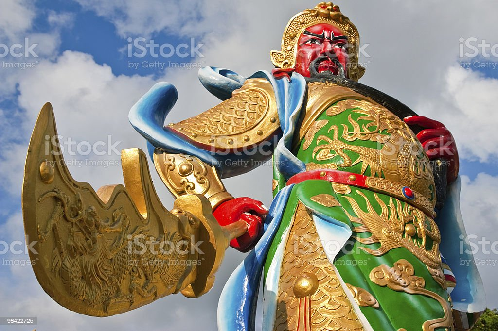 Chinese god statue royalty-free stock photo