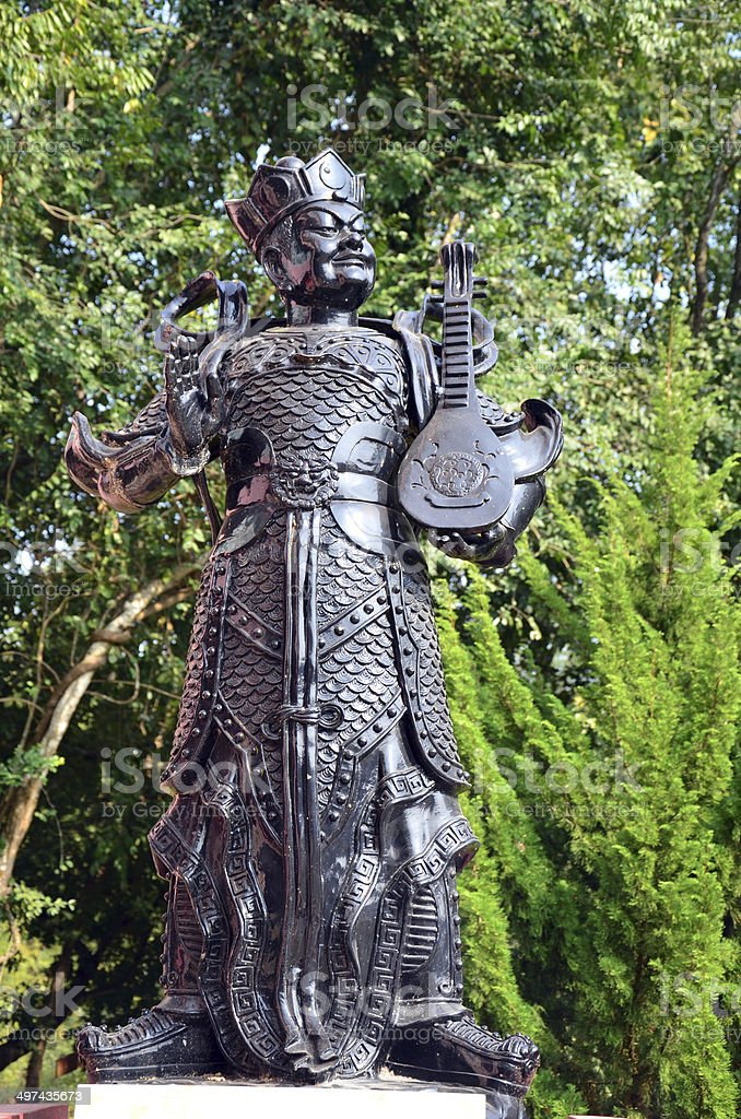 Chinese God Warrior Statue Or Four Heavenly Kings Royalty Free Stock Photo