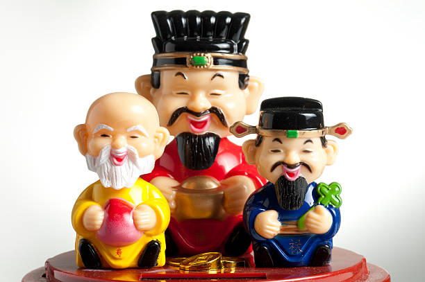 Chinese Gods for Feng Shui stock photo