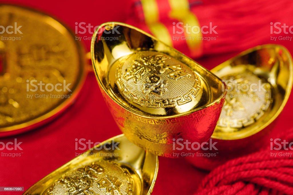 chinese gold ingot royalty-free stock photo