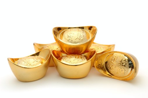 Chinese Gold Ingots Stock Photo - Download Image Now