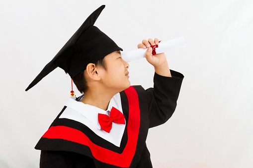 Proud kindergarden graduate.