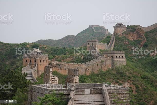 Chinese Great Wall Between Jhinshalin And Simatai Stock Photo - Download Image Now