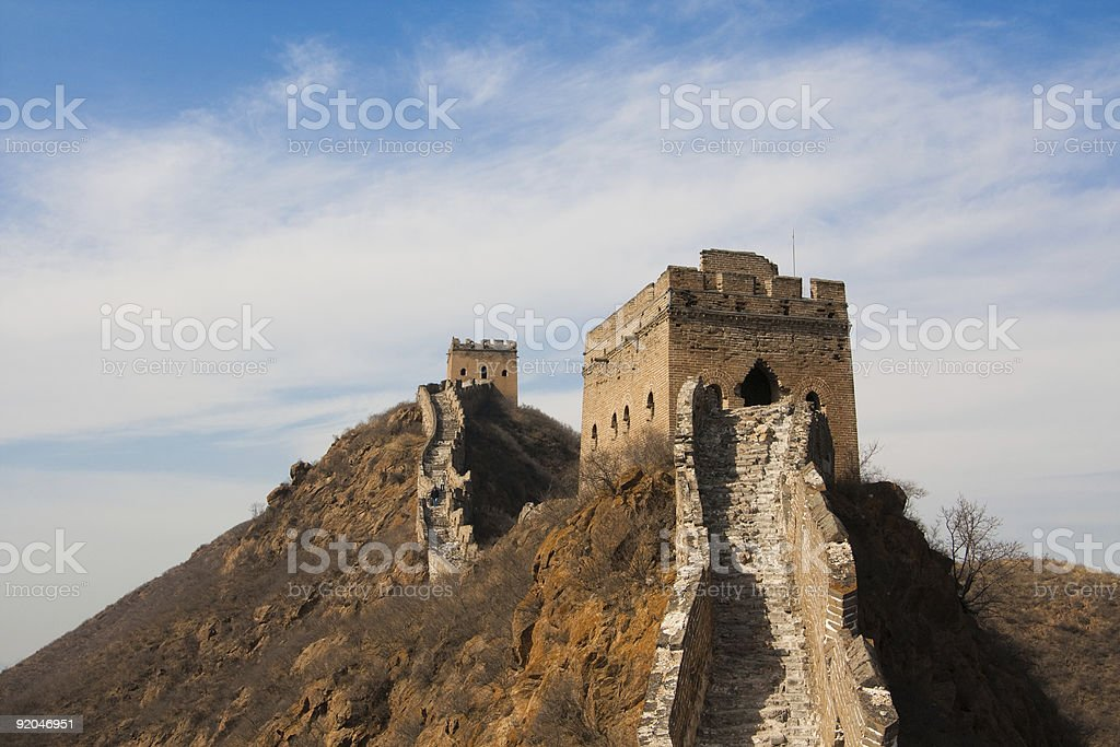 Chinese Great Wall landscape, Beijing, China royalty-free stock photo