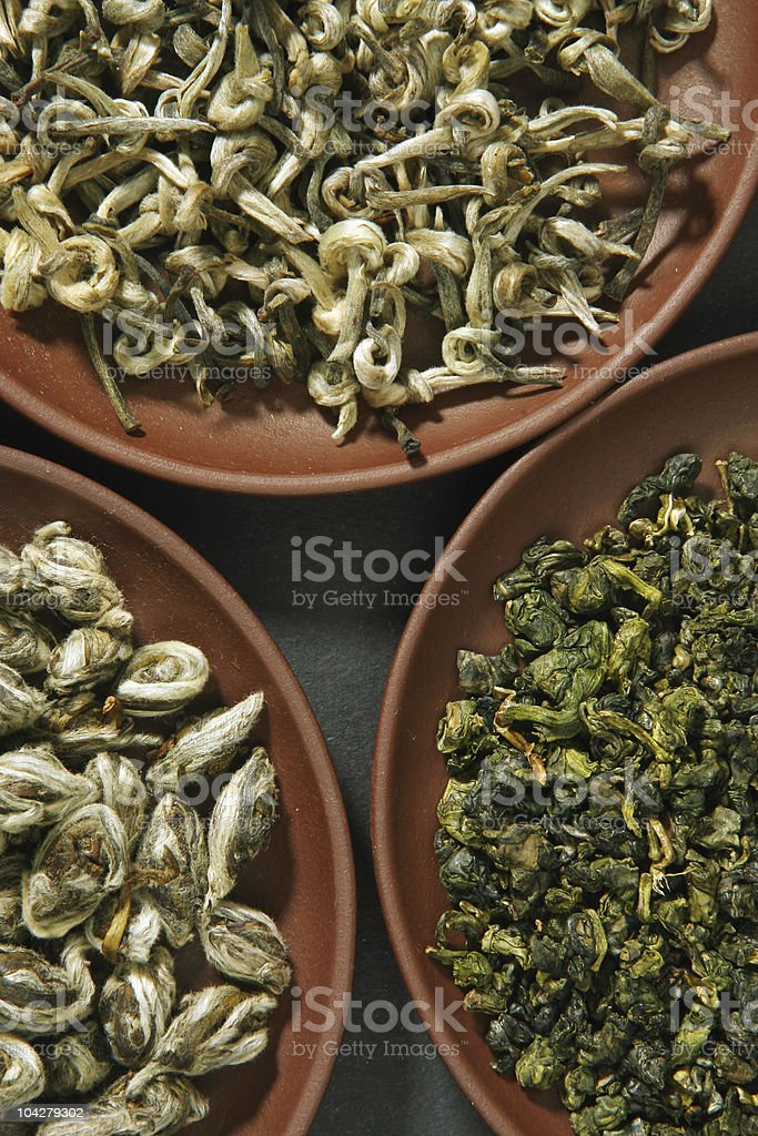 Chinese green teas royalty-free stock photo