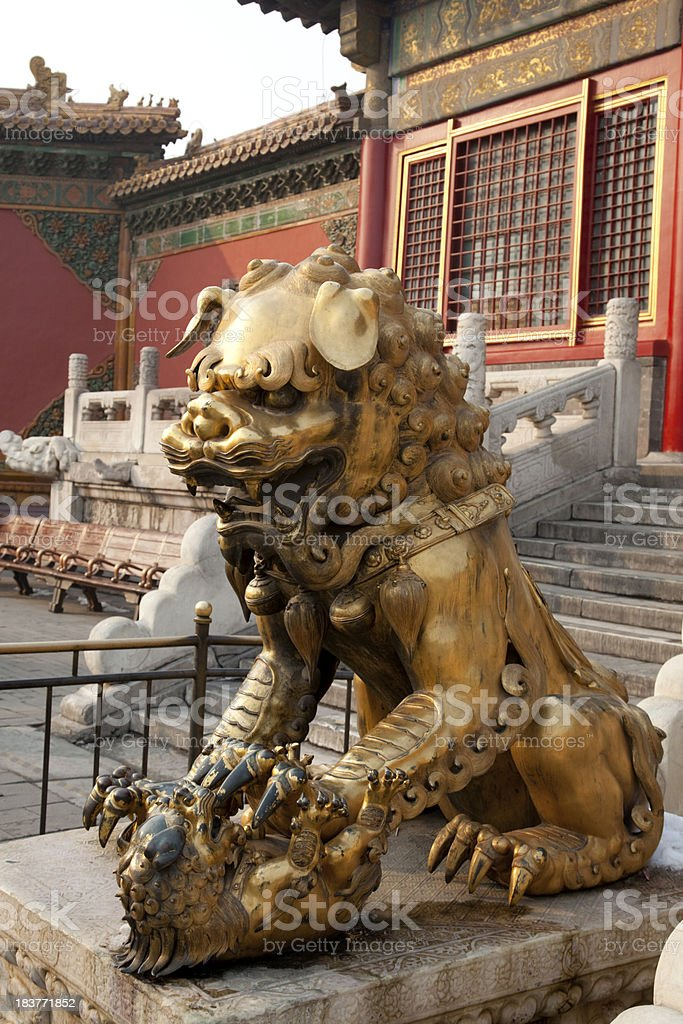 Chinese Guardian Lion royalty-free stock photo