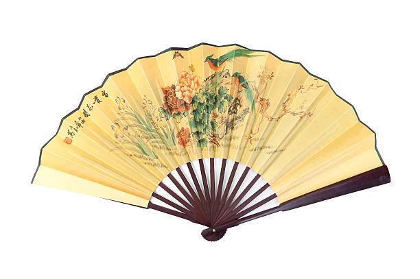 chinesische hand fan - japanischer fächer stock-fotos und bilder