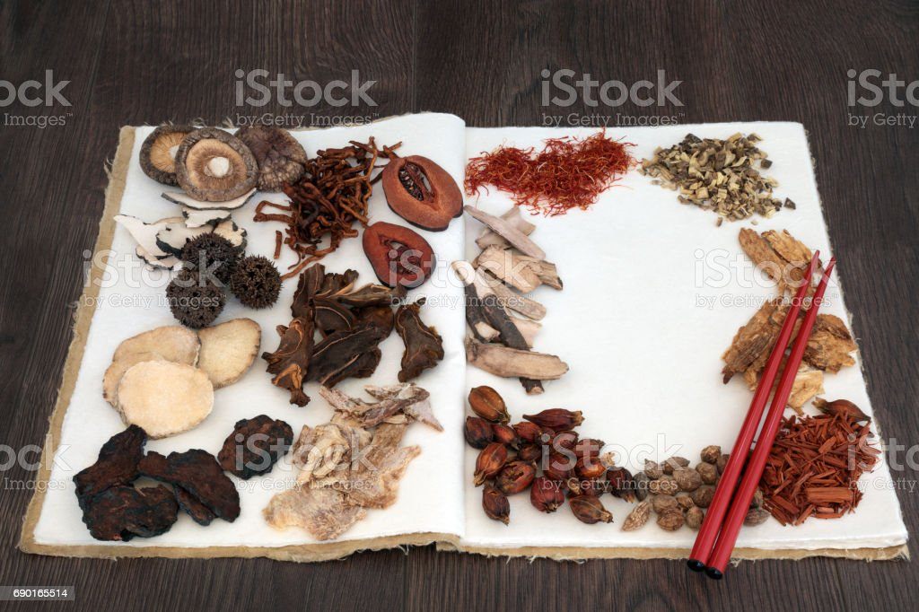 Chinese Herb Selection stock photo