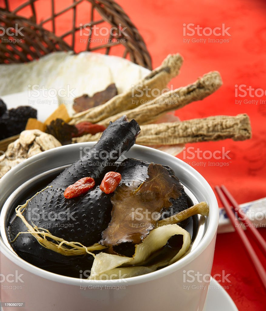 Chinese Herb soup stock photo
