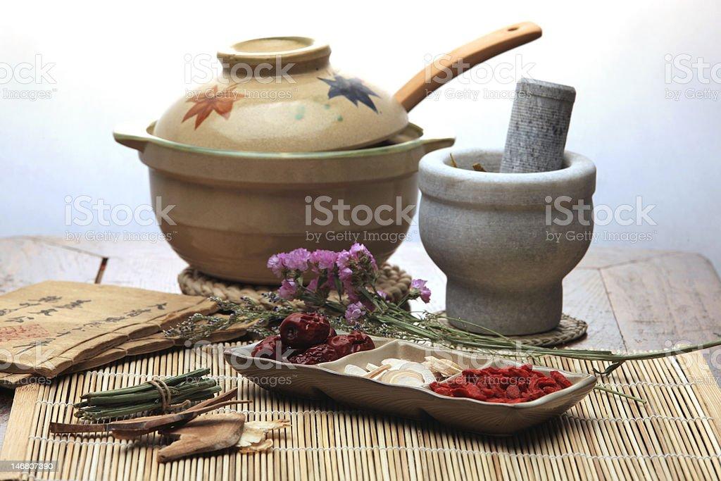 Chinese herbal medicine royalty-free stock photo