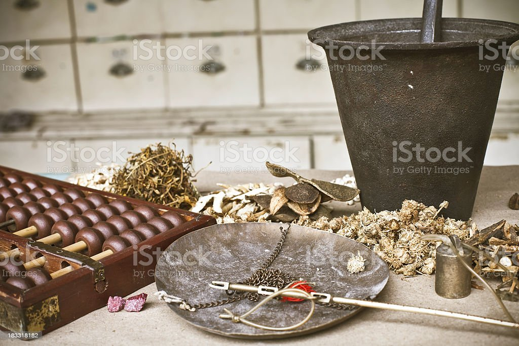 Chinese Herbal Medicine royalty-free stock photo