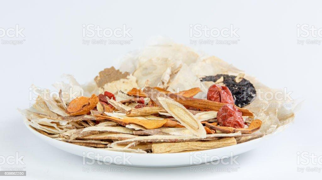 Chinese herbal medicines stock photo