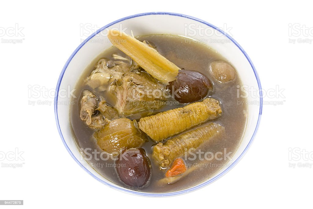 Chinese herbal soup royalty-free stock photo