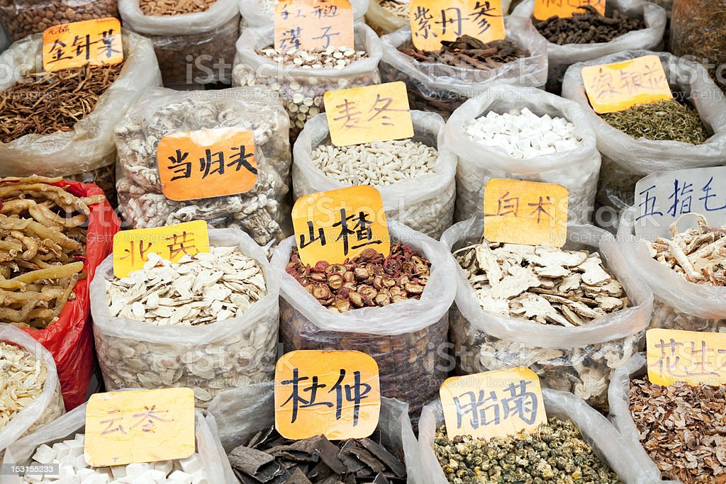 Chinese Herbs royalty-free stock photo