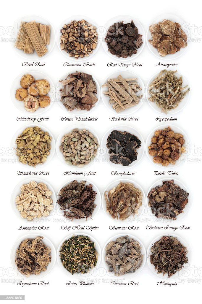 Chinese Herbs stock photo