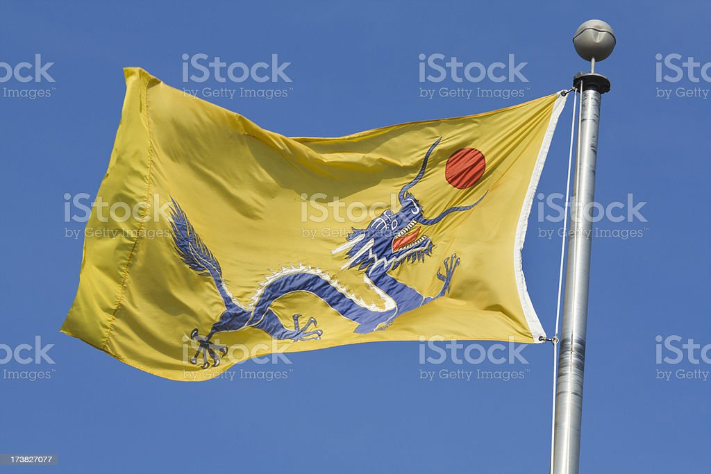chinese historic qing dynasty flag stock photo more pictures of