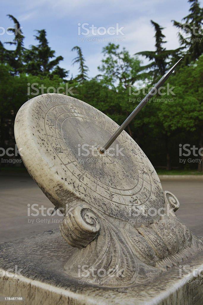 Chinese historic sundial stock photo