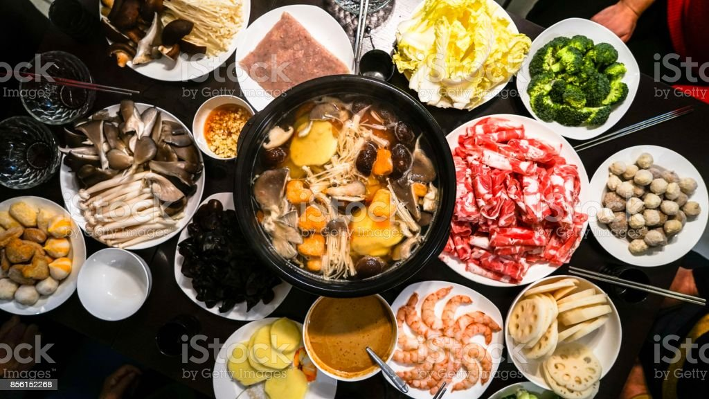 Chinese Hot Pot stock photo