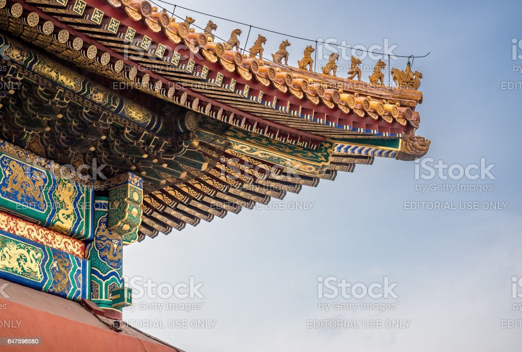 chinese imperial roof decorations stock photo more pictures of