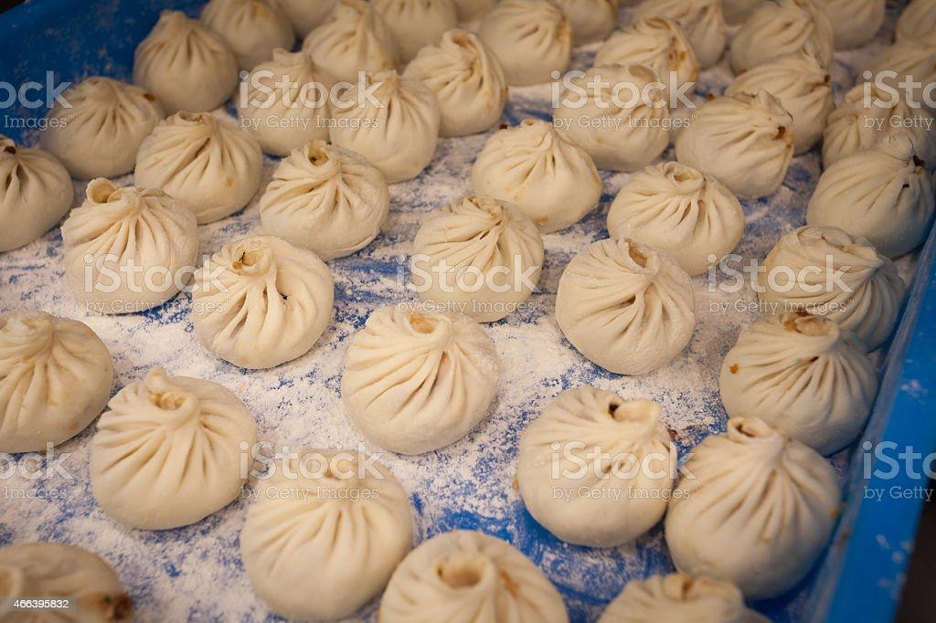 Chinese kitchen at work Making pasta