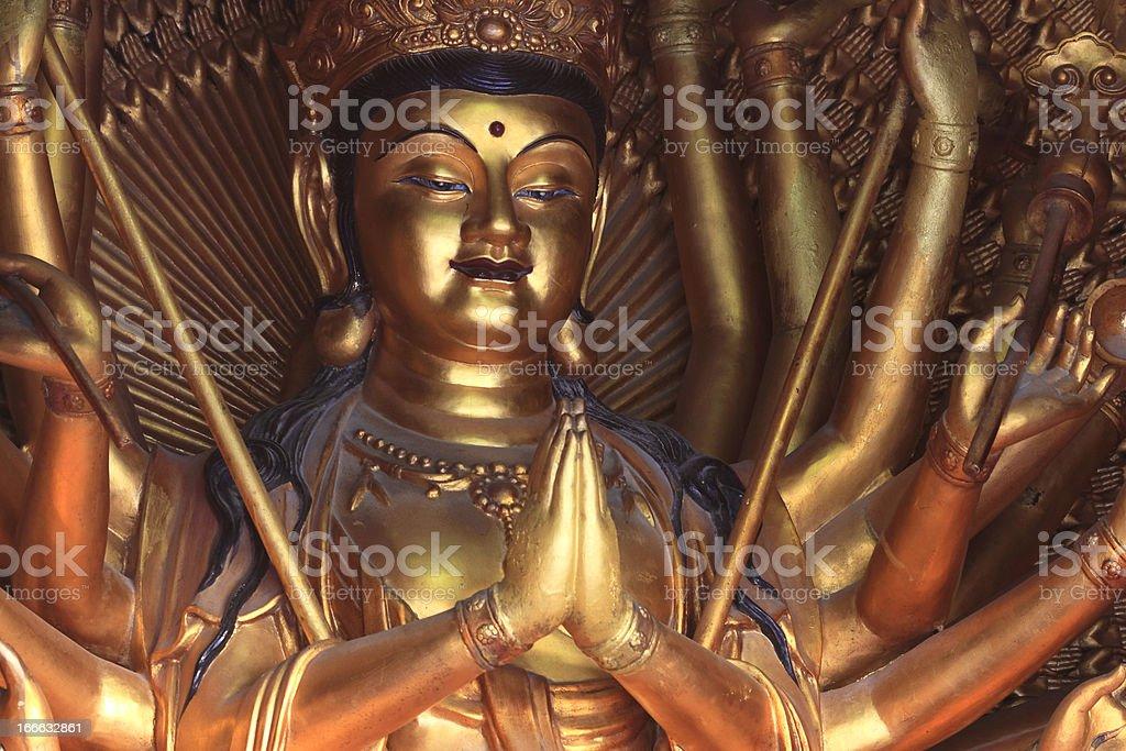 Chinese lady buddha stock photo