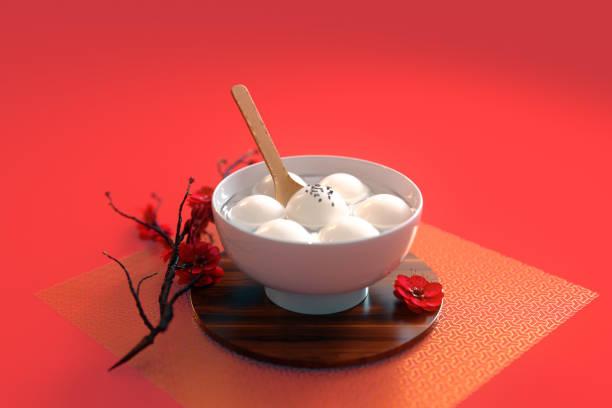chinese lantern festival food.3d rendering - festival delle lanterne cinesi foto e immagini stock