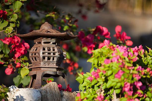 Chinese Lantern Garden Ornament stock photo