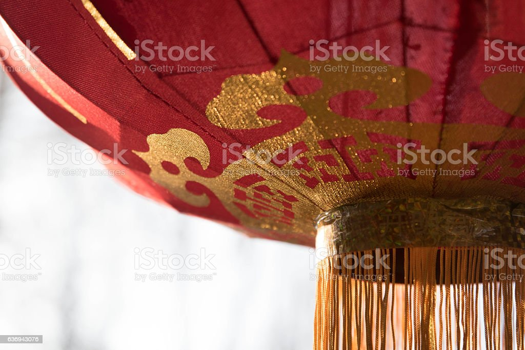 Chinese lantern in a park in Poland stock photo