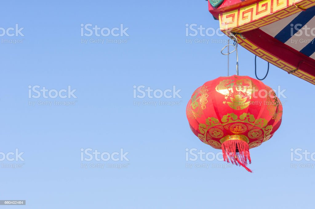 chinese lantern in temples , chinese new year lantern stock photo