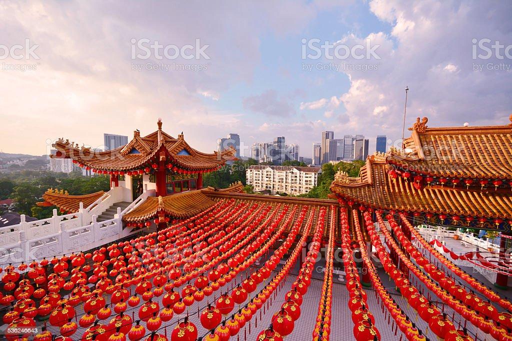 Chinese lanterns display stock photo