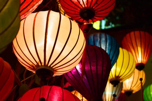Chinese Lanterns in Hoi An, Vietnam stock photo