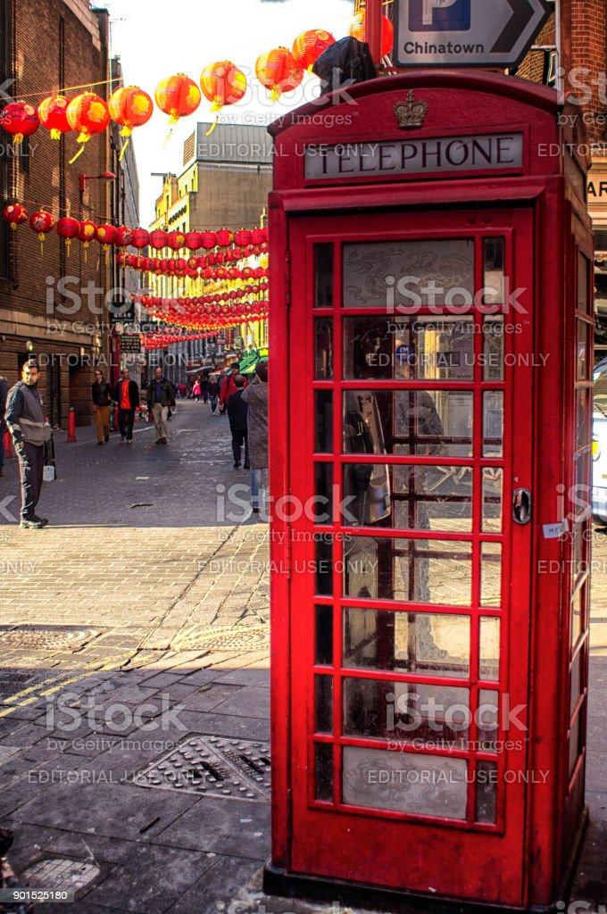 Chinese lanterns in London stock photo