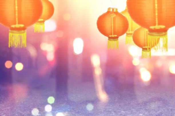 chinese lanterns - festival delle lanterne cinesi foto e immagini stock