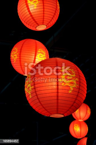 China New Year ,Lanterns are hanging at the parks,windows,buildings and other famous scenic spots.
