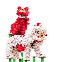 中国のライオンの衣装ダンス