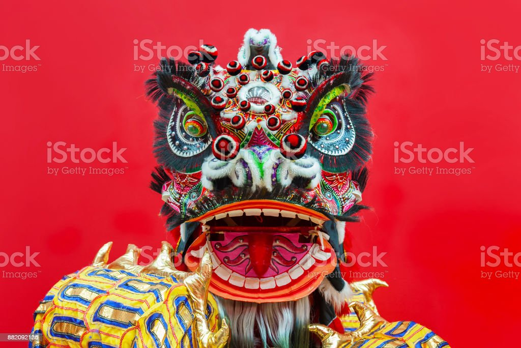 Chinese Lion Dance royalty-free stock photo