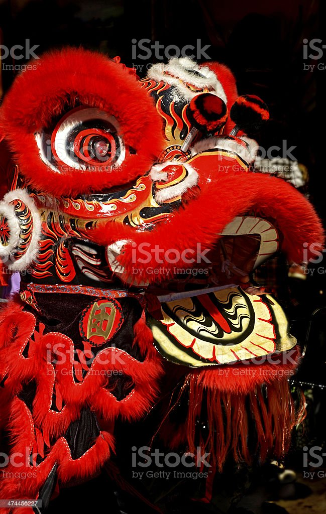Chinese Lion Dancing stock photo