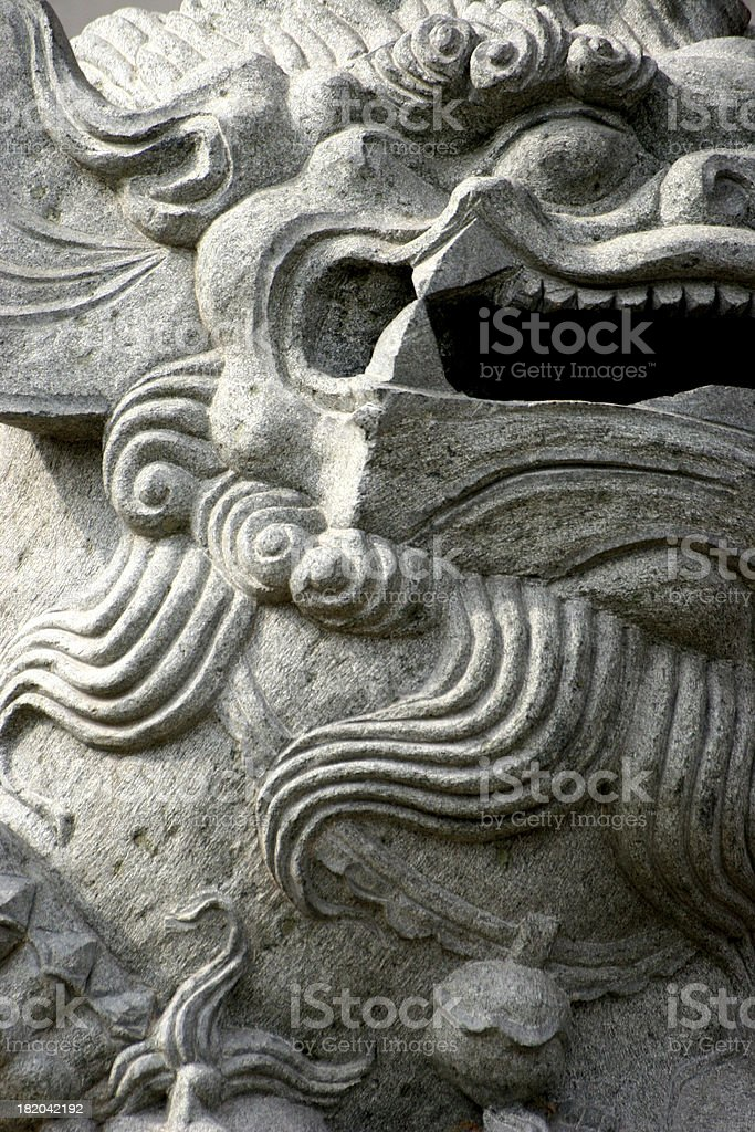 chinese lion detail royalty-free stock photo