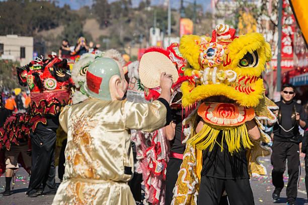 Lion chinois pendant le défilé du Dragon doré - Photo