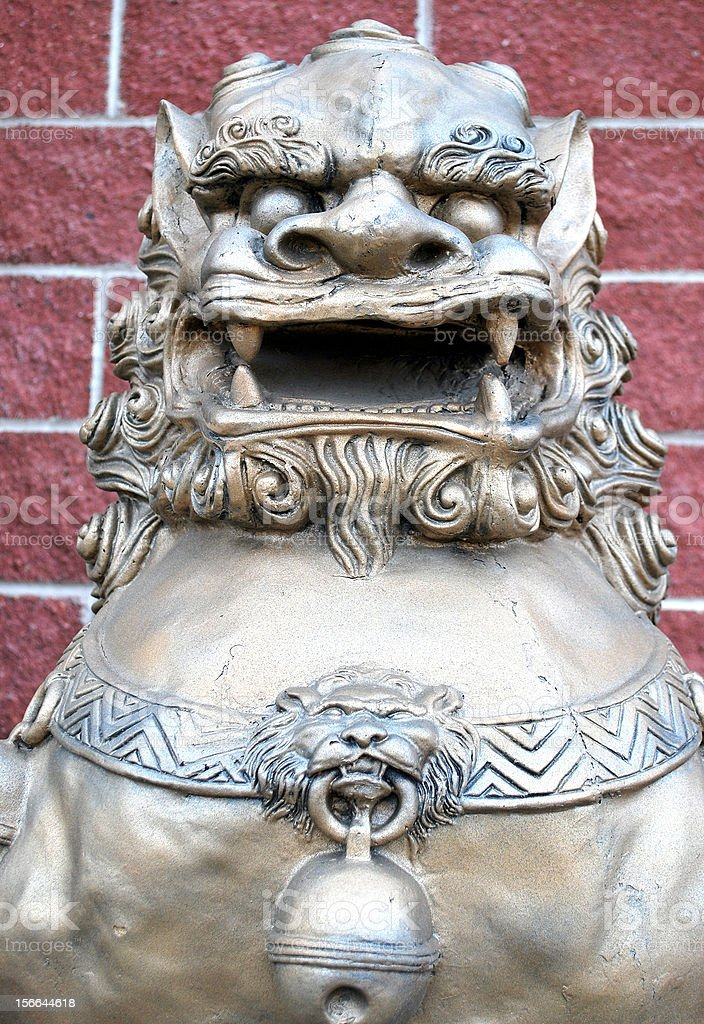 Chinese lion statue. royalty-free stock photo