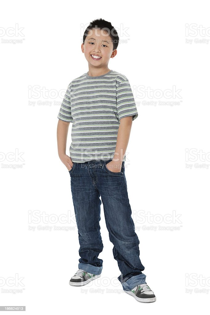Chinese Little Boy Smiling royalty-free stock photo