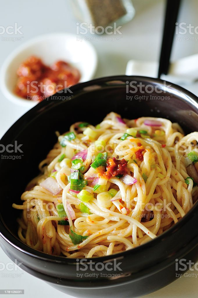 chinese lo mein stock photo