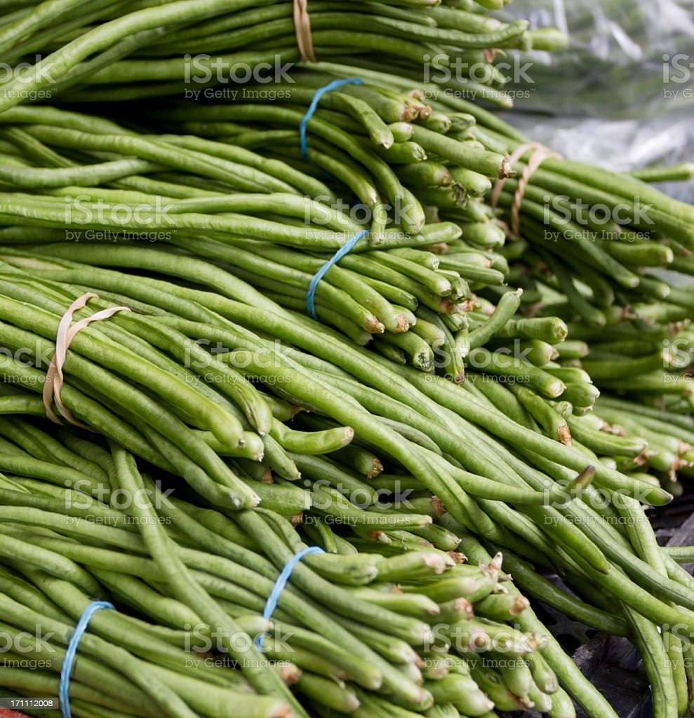 Chinese long beans stock photo