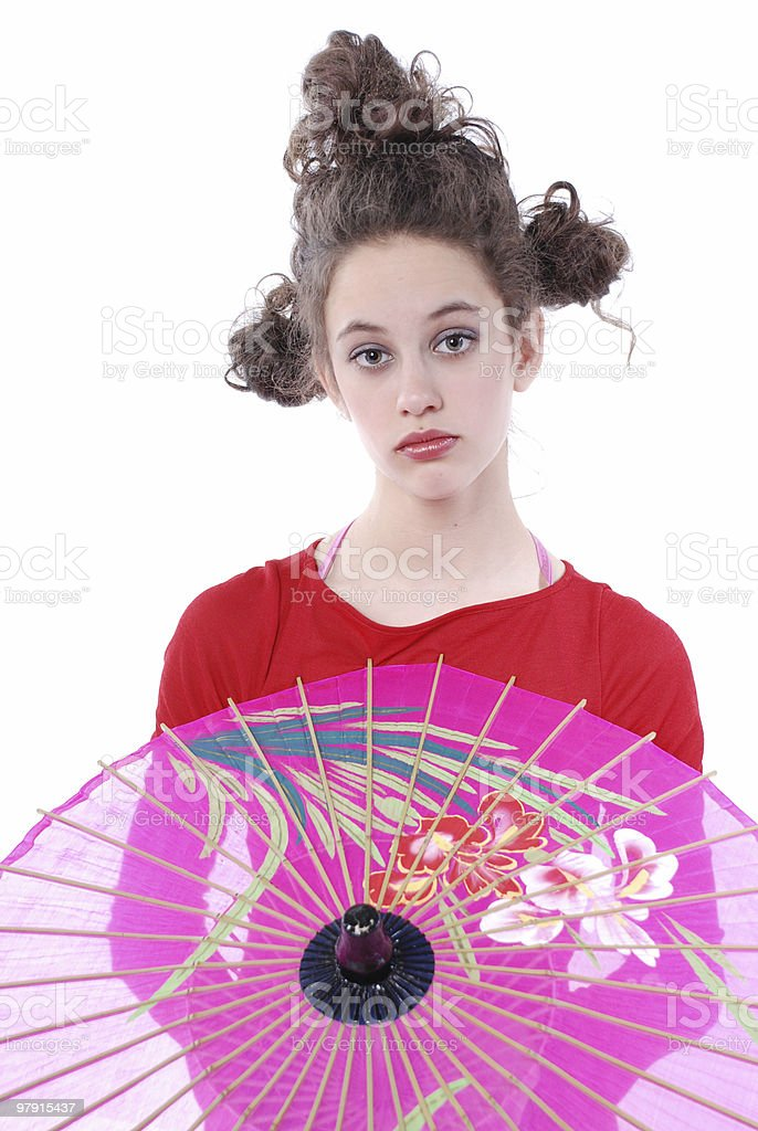 Chinese look royalty-free stock photo