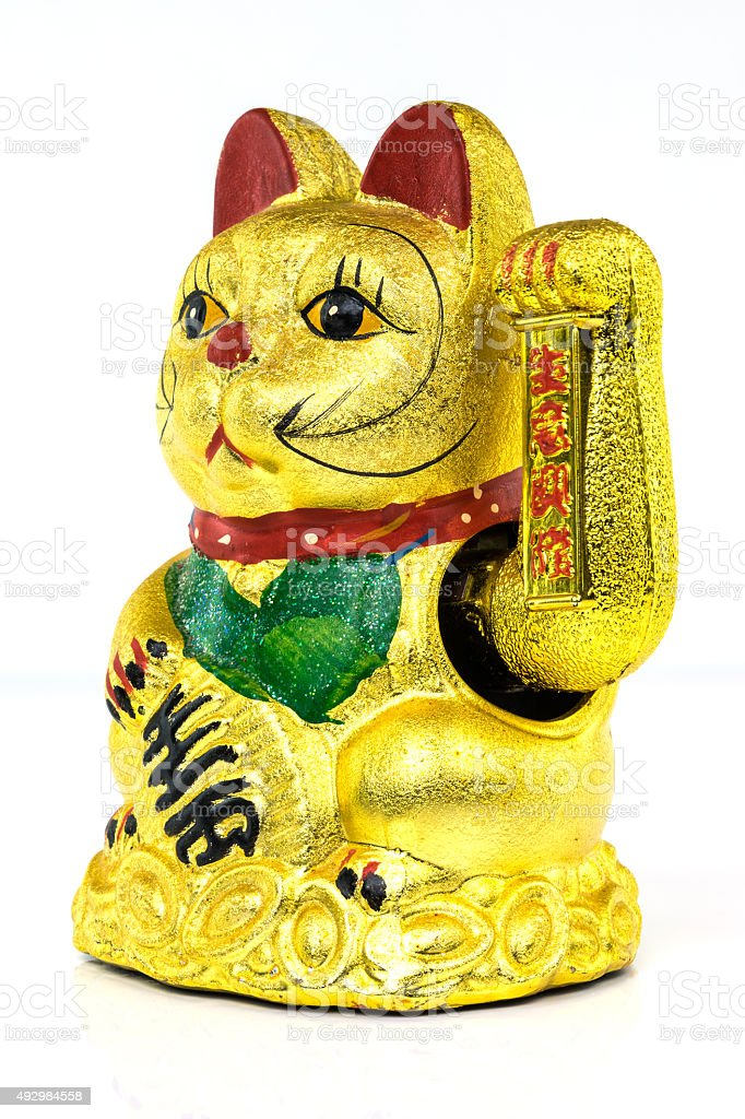 Chinese Lucky Cat stock photo