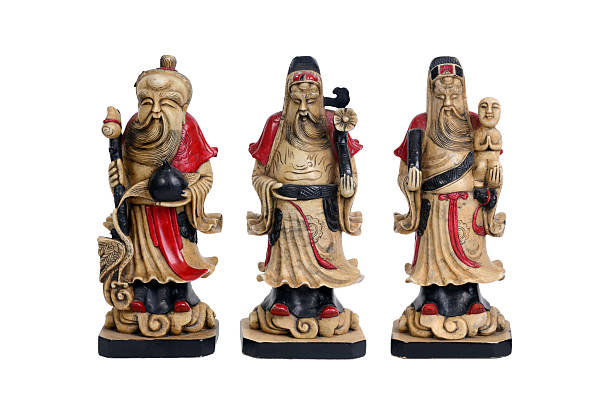 Chinese lucky gods, Fu Lu Shou. stock photo